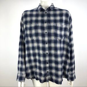 Madewell J Crew Button Down Shirt Blue Size Large
